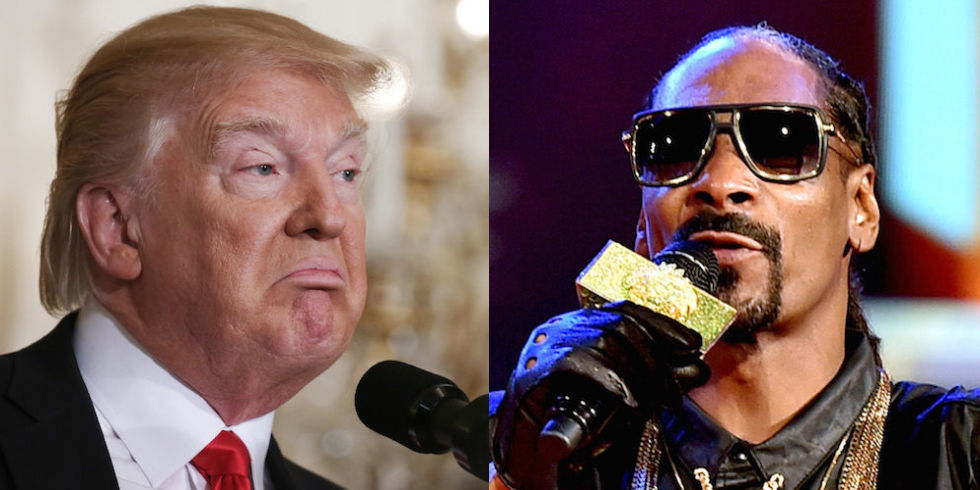 "President Trump Tweeted his dislike of ""failing rapper"" Snoop Dogg"