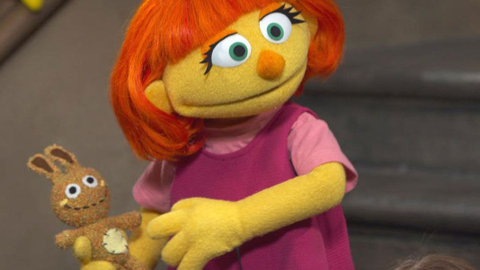 Julia will be welcomed to Sesame Street next month. She's the first ever character with autism to be on the show.