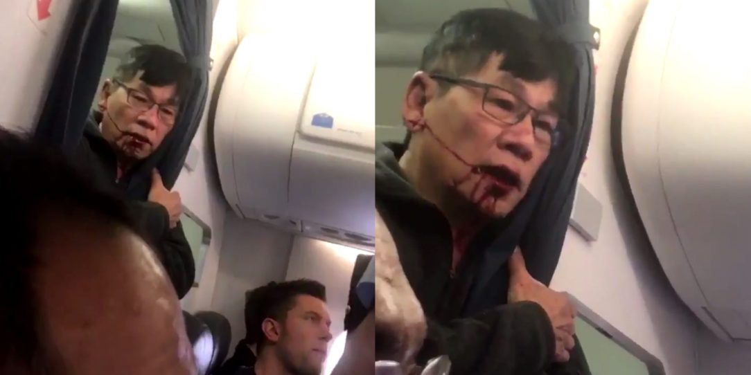 Shocking new video emerges of the United airlines passenger being dragged off a flight